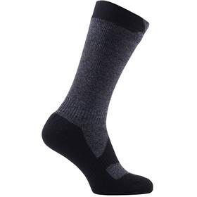 Sealskinz Walking Thin Mid Socks dark grey marl/black